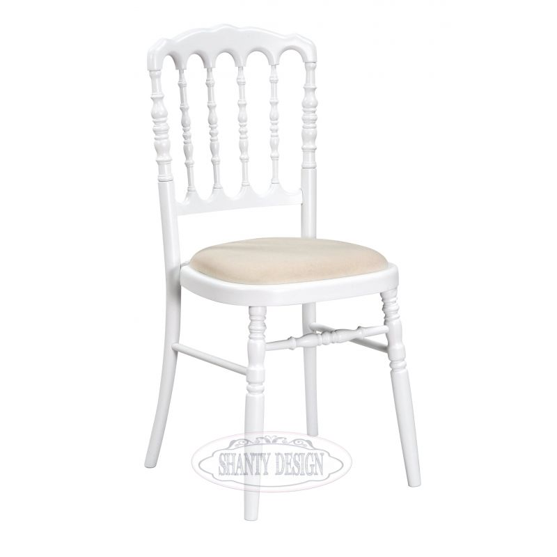 Sedia provenzale impilabile roma 9 sedie shabby chic for Sedie shabby chic usate