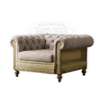 vendita online negozio roma di poltrona imbottita chesterfield stile vintage in tessuto per arredo e mobili industrial