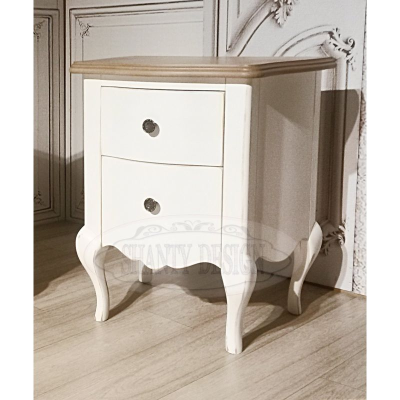 Comodino francese 4 comodini shabby chic for Camera da letto cottage francese