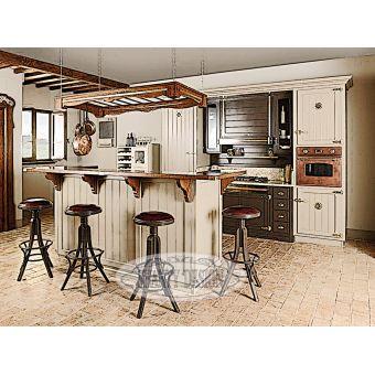 Cucina 2 in stile provenzale realizzata su misura falegnameria roma in legno massello castagno rovere online