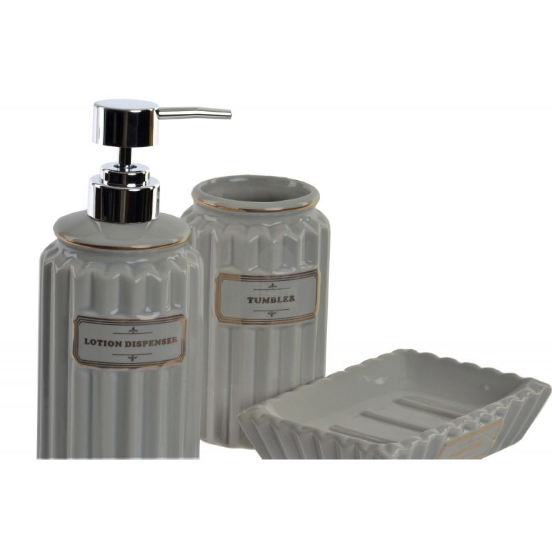 Set 3 Accessori Bagno LOTION C Shabby Chic Accessori Bagno