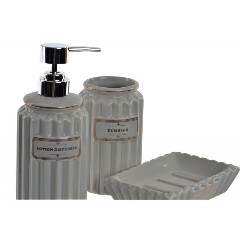 set 3 accessori bagno lotion c shabby chic accessori bagno - Vendita On Line Arredo Bagno