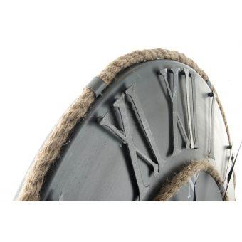 orologio in acciaio metallo anticato grigio in stile vintage industriale con numeri incisi shabby chic online