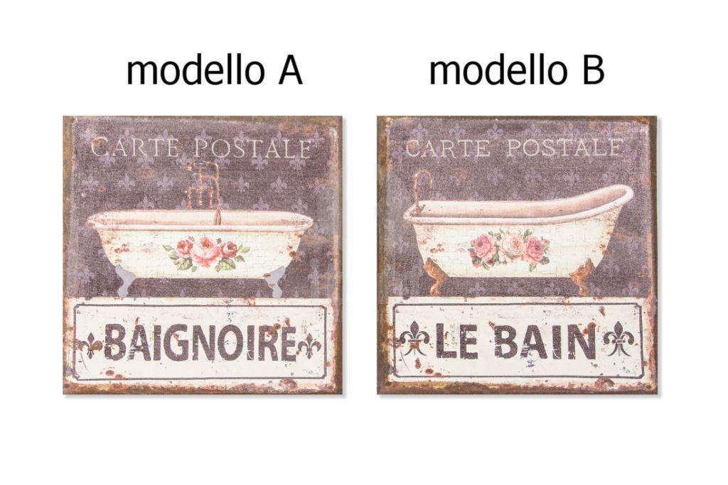 Quadro bagno vintage 3 shabby chic quadri - Quadri per bagno ...