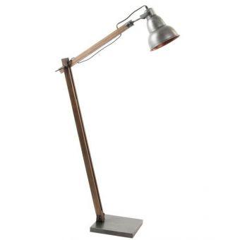 piantana luce in metallo stile industriale con lampada vintage per loft vendita arredamento online