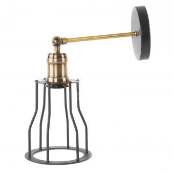 lampada da muro applique in metallo stile vintage industriale vendita online