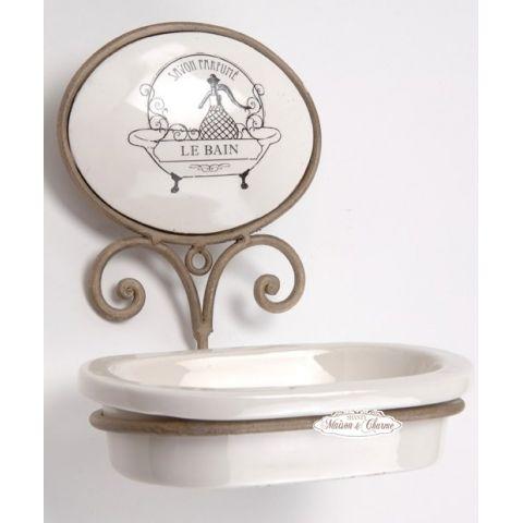 Porta sapone ecru bagno provenzale accessori bagno shabby chic for Accessori bagno online