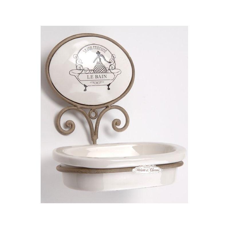 Porta Sapone ECRU Bagno Provenzale Accessori Bagno Shabby Chic