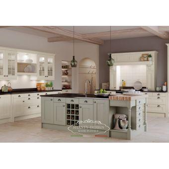 cucina 5 in stile provenzale progettazione falegnameria negozio roma in legno massello online bianca