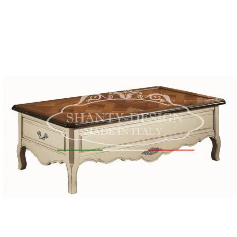 Tavolino da Salotto Shabby Chic DENISE 2 Tavolini Bassi - Tavoli ...
