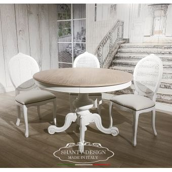 TAVOLO SHABBY & PROVENZALE in legno decapato COTTAGE COUNTRY ONLINE