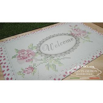 zerbino tappetino in gomma stile shabby provenzale per ingresso cucina cottage vendita online