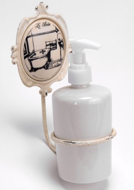 Porta sapone lb bagno country accessori bagno shabby chic for Accessori bagno country