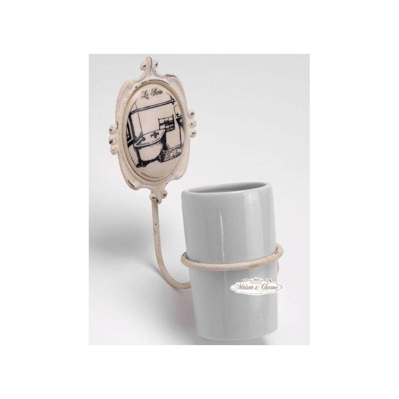 Porta spazzolino lb bagno country accessori bagno shabby chic for Accessori bagno country