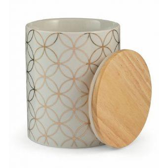 Barattolo Ceramica Bianco/Dorato SHABBY ROMA