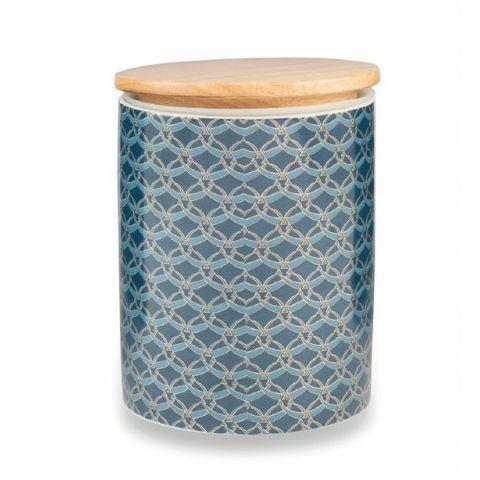 Barattolo Ceramica Blu SHABBY ROMA Accessori Cucina