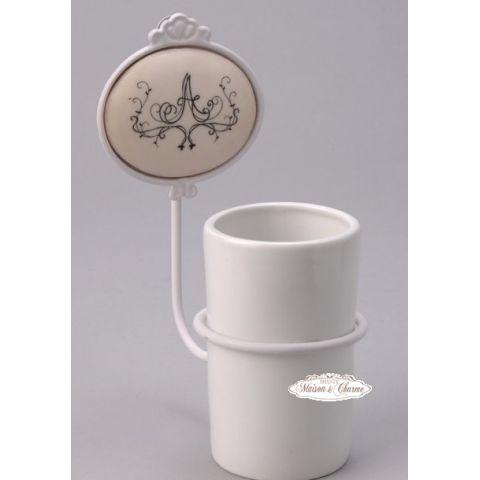 Porta spazzolino floreal bagno provenzale accessori bagno - Spazzolino bagno ...