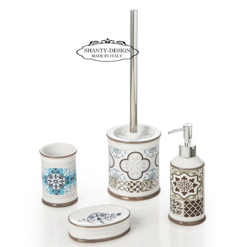 Accessori Da Bagno In Ceramica.Set 4 Accessori Bagno Roma 4 Shabby Chic Accessori Bagno