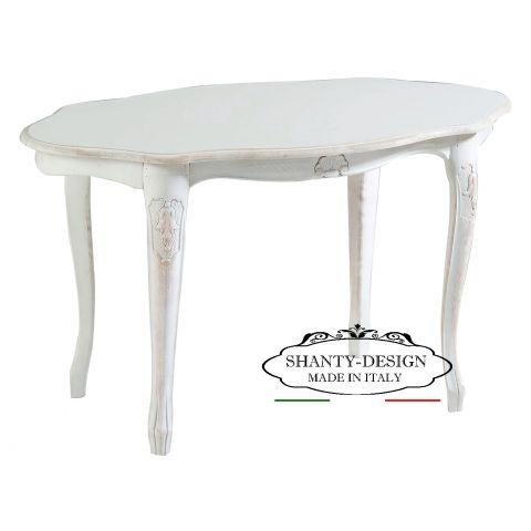 Misure Tavolo Da 6 Rettangolare.Tavolino Da Salotto Shabby Chic Denise 6 Tavolini Bassi Tavoli