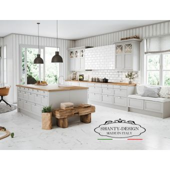 cucine cottage all'americana bianche per arredamento cucina provenzale online