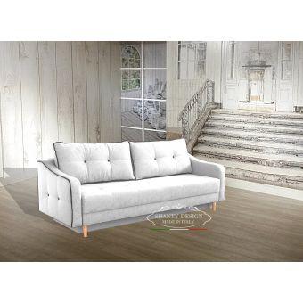 divano nordic 3 bianco con letto matrimoniale scandinavo sofà shabby chic online