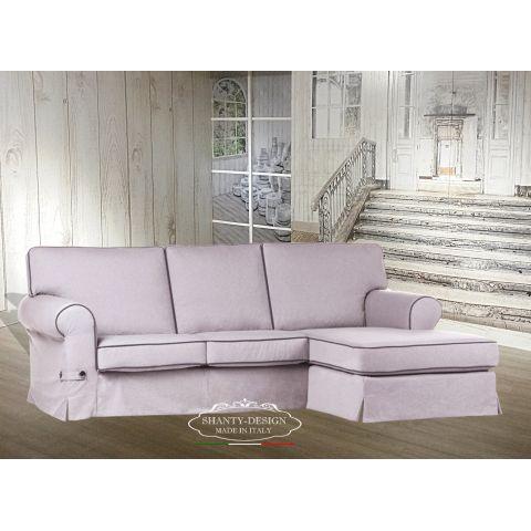 Divano Angolare 3 posti SHABBY ROMA 2 con chaise longue