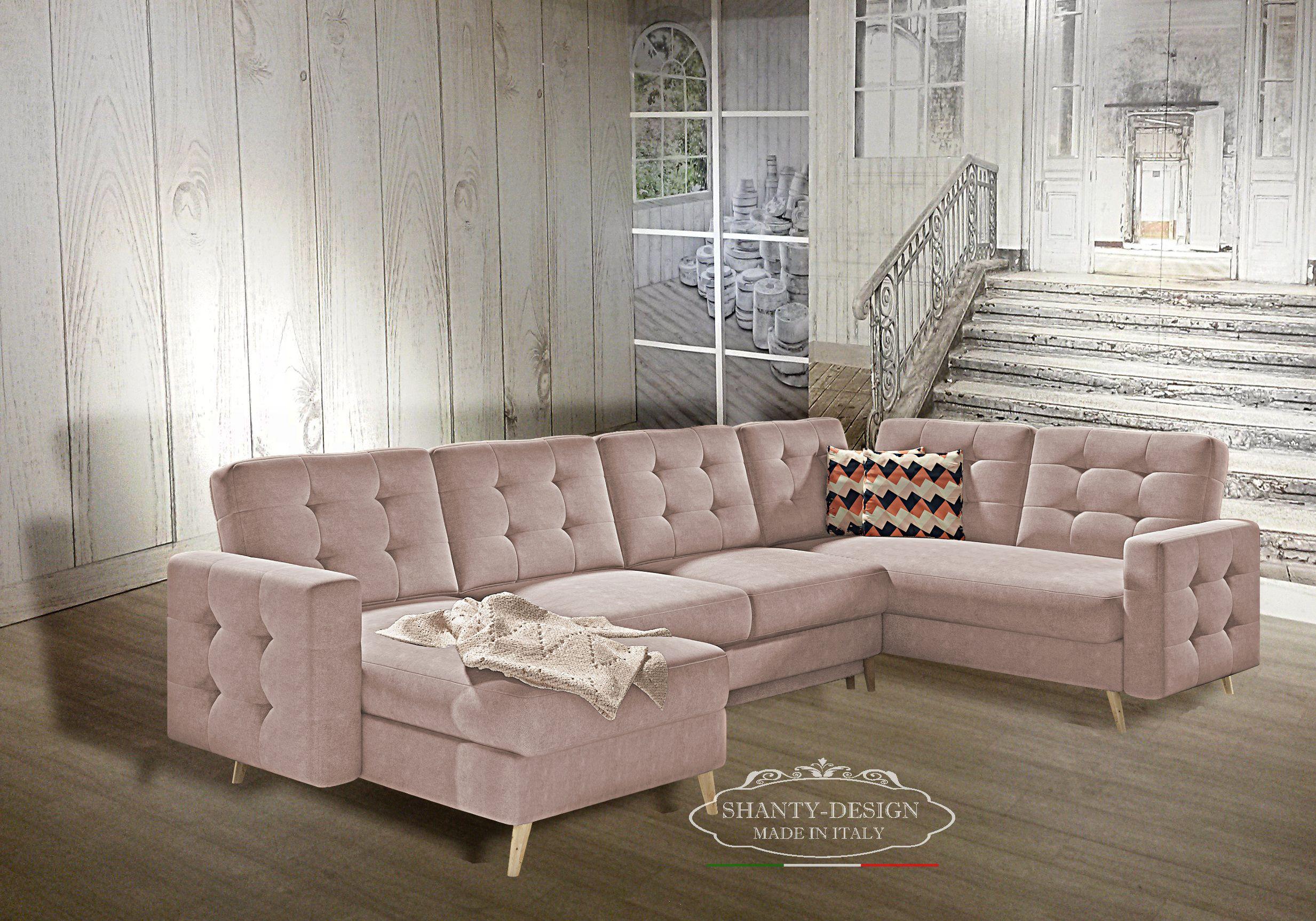 Divano Tessuto Antimacchia Opinioni divano 4 posti shabby scandi 2 con doppia penisola e chaise longue divani e  poltrone shabby chic