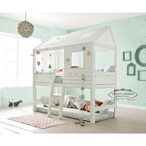 Letti A Castello Per Bambini Design.Cameretta Bambini Montessori 2 Stile Nordico Con Letto Castello Camerette Bambini Shabby Chic