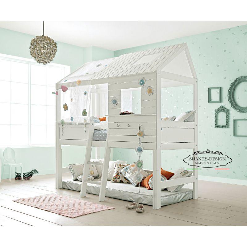 Letti A Castello Per 3 Bambini.Cameretta Bambini Montessori 2 Stile Nordico Con Letto Castello