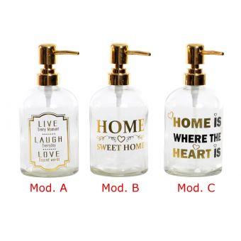 erogatore  sapone vetro shabby country sala da bagno in stile provenzaale online