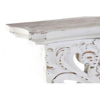 mensola da muro shabby  per arredamento salotto e camera stile provenzale in legno bianco roma online