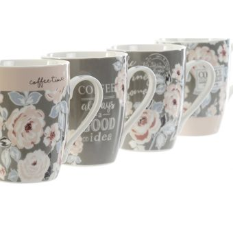 Set 4 Tazze Mug VINTAGE A Shabby Chic