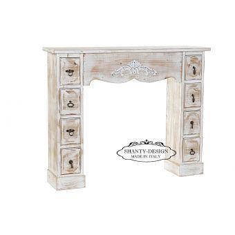 cornice caminetto camino legno shabby per arredamento mobili stile provenzale country roma