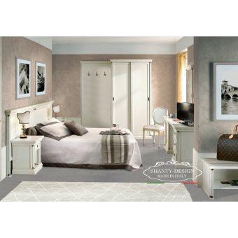camera matrimoniale per albergo ROMA 4 su misura legno stile classico provenzale bianca elegante shabby