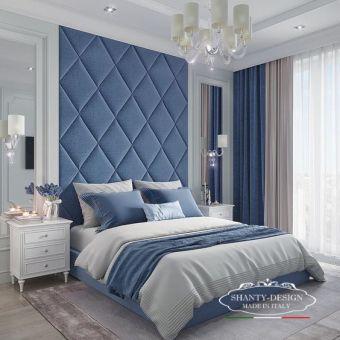 arredamento hotel stile classico elegnate shabby testata letto imbottita sommier e comodini per albergo roma 6