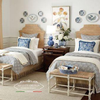 stanza doppia con letti singoli sommier arredamento albergo shabby e camera da letto hotel affittacamere roma 7 online