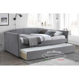 letto singolo con secondo letto estraibile shabby per camera da letto country chic e moderna roma online