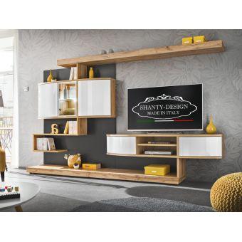 Pparete attrezzata soggiorno per arredamento salotto e tv in stile moderno - contemporaneo - neo classico Roma 2 online