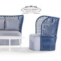 SALOTTO GIARDINO SHABBY_con divano e due poltroncine in resina Outdoor ROMA 3