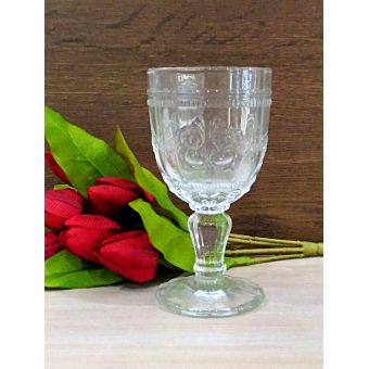 bicchieri stile shabby chic per vino e calici acqua stile country roma online LUIS 3