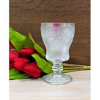 bicchieri calici da vino stile vintage e shabby chic in vetro trasparente online roma LUIS 6