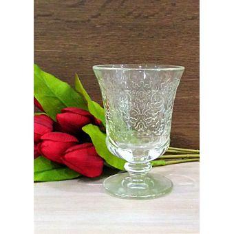 bicchieri acqua shabby in vetro trasparente per tavola country online roma 1