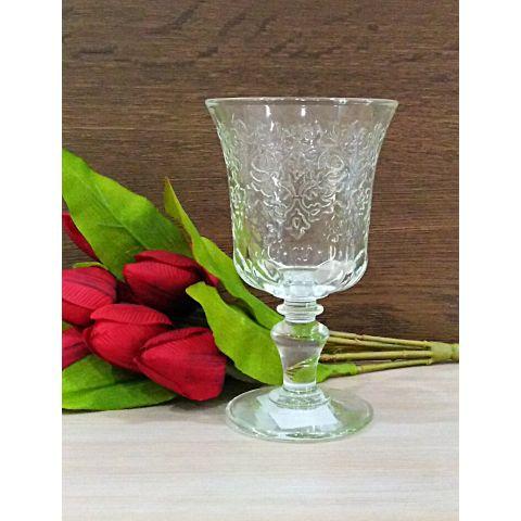 6 BICCHIERI da VINO per tavola SHABBY in vetro CALICI da Vino LUIS 2