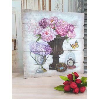 quadro per soggiorno shabby dipinto su legno a doghe in stile country chic e provenzale online roma 5