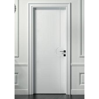 s18 porta interna moderna classica avorio e porte interne scorrevoli in legno a battente laccata ROMA 9