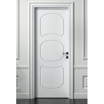 34 porta interna a battente laccata moderna e porta interna shabby neoclassica scorrevole ROMA 6