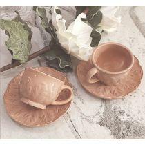 Tazza caffè rosa antico Country Chic in ceramica ROMA 3
