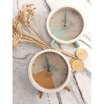 orologio da tavolo shabby sveglia in legno stile country chic scandinavian romantic roma online