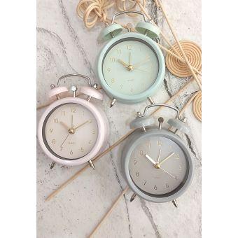 orologio con sveglia in stile nordico scandinavin in metallo shabby chic verde grigio rosa roma online