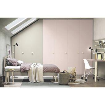 cameretta stile scandinavo shabby con letto ed armadio mansardato bianco shabby online stile nordico su misura roma